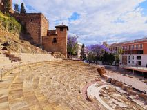 Roman Theatre em Malaga Fotos de Stock Royalty Free