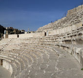 Roman Theatre en Amman, Jordania fotos de archivo