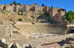 Roman Theatre en Málaga Royalty Free Stock Photos
