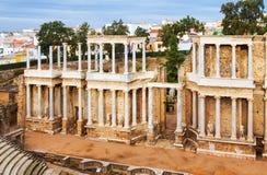 Roman Theatre en Mérida españa Fotos de archivo libres de regalías