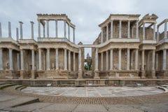 Roman Theatre en Mérida, España Front View Fotos de archivo libres de regalías