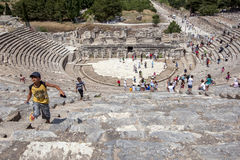 Roman Theatre at Ephesus in Turkey. Stock Photography