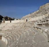 Roman Theatre i Amman, Jordanien Arkivfoton