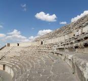 Roman Theatre i Amman, Jordanien Arkivbild