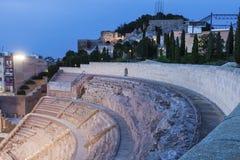 Roman Theatre i Cartagena Arkivbild