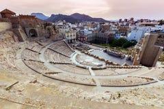 Roman Theatre i Cartagena Fotografering för Bildbyråer
