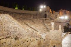 Roman Theatre i Cartagena Royaltyfri Bild