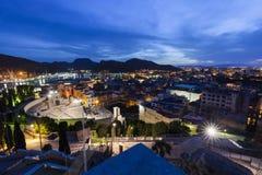 Roman Theatre i Cartagena Royaltyfria Bilder