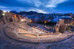 Roman Theatre i Cartagena Royaltyfri Fotografi