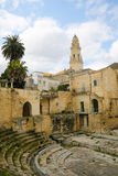 Roman Theatre in Lecce, Puglia, Italy Stock Photos
