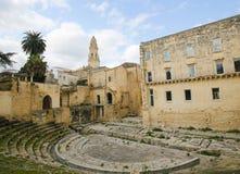 Roman Theatre in Lecce, Puglia, Italy Stock Photos