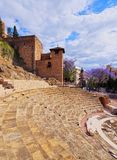 Roman Theatre in Malaga Royalty Free Stock Photography