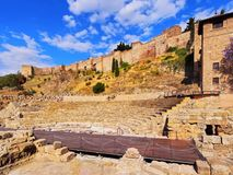 Roman Theatre in Malaga Stock Photo
