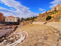Roman Theatre in Malaga Stock Images