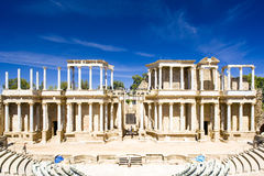 Roman Theatre, Merida. Roman Theatre in Merida, Badajoz Province, Extremadura, Spain Royalty Free Stock Photos