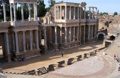Roman Theatre - Merida Royalty Free Stock Photos