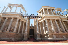 Roman Theatre of Merida. Merida is the capital of the autonomous community of Extremadura, western central Spain. The Archaeological Ensemble of Merida has been Royalty Free Stock Images
