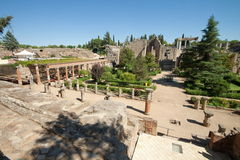Roman Theatre of Merida. Merida is the capital of the autonomous community of Extremadura, western central Spain. The Archaeological Ensemble of Merida has been Royalty Free Stock Photo