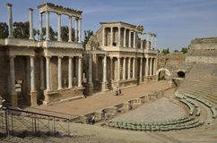 The Roman Theatre of Merida Royalty Free Stock Photos
