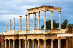 Roman Theatre at Merida Stock Image