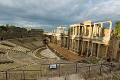 Roman Theatre  in  Merida.  Spain Royalty Free Stock Photography