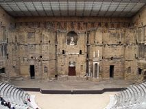 The Roman Theatre in Orange (France); the scene Royalty Free Stock Images