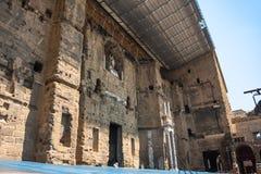 Roman Theatre of Orange (France) Stock Images