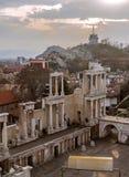 The Roman Theatre of Plovdiv, Bulgaria Royalty Free Stock Image