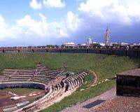 Roman Theatre, Pompeii Image libre de droits