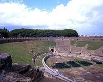 Roman theatre, Pompeii. Stock Photo