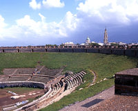 Roman Theatre, Pompeji Lizenzfreies Stockbild