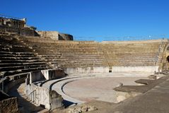 Roman theatre, Santiponce, Spain. Stock Photo