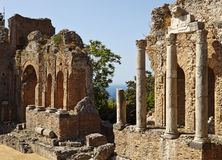 Roman Theatre In Taormina Royalty Free Stock Photo