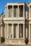Roman Theatre van Merida is een bouw door de consul Vipsanius Agrippa wordt bevorderd dat royalty-vrije stock afbeelding