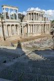 Roman Theatre van Merida is een bouw door de consul Vipsanius Agrippa wordt bevorderd dat stock afbeelding