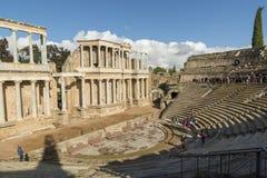 Roman Theatre van Merida is een bouw door de consul Vipsanius Agrippa wordt bevorderd dat royalty-vrije stock foto