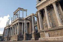 Roman Theatre van Merida is een bouw door de consul Vipsanius Agrippa wordt bevorderd dat stock fotografie