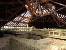 Ancient Roman thermal bath complex under pavilion Royalty Free Stock Photo