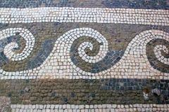 Roman Tiles i Pompeii, Italien Arkivfoto
