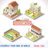 Roman 03 Tiles Isometric Royalty Free Stock Images