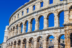 Arena Pula. Roman time arena in Pula, detail, Croatia. UNESCO world heritage site Royalty Free Stock Image
