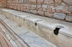 Roman Toilets antique Images libres de droits
