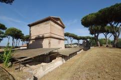 Roman tombs in Rome Stock Image