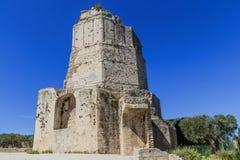 Roman toren in Nîmes, de Provence, Frankrijk Stock Fotografie