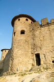 Roman tower. Tower of Roman origin in the wall of Carcassonne's citadel Royalty Free Stock Photography