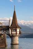 Roman tower of Oberhofen Castle Royalty Free Stock Photos