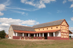 Roman Town House, England. Reconstruction of a Roman Town House (villa urbana) at Wroxeter Roman city (Viroconium). Near Shrewsbury Stock Photos