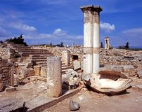Roman town, Kourion, Cyprus. Royalty Free Stock Photos