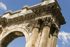 Roman triumphal arch Royalty Free Stock Photography