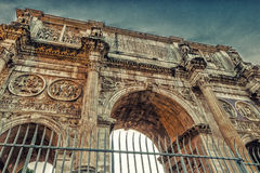 Roman triumphal arch Royalty Free Stock Photo